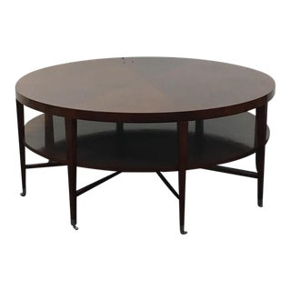 Mid-Century Modern Style Round Two-Tier Eight-Legged Coffee Table