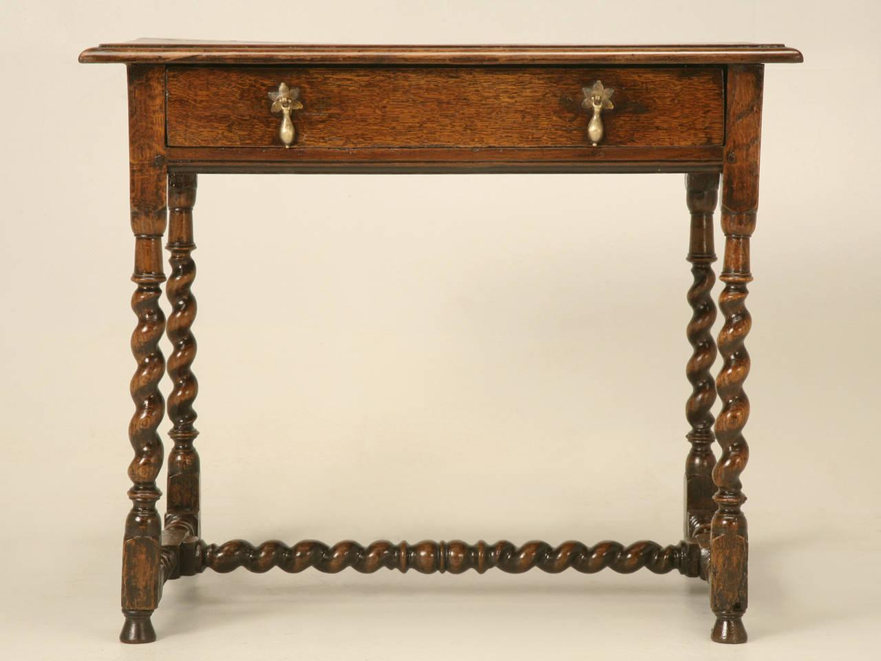 Beautiful English Country Style Writing Desk Or End Table, Circa 1700s   Image 5 Of 10