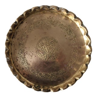 Antique Moroccan Brass Tray
