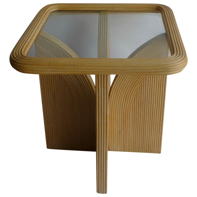 Mid-Century Modern Split Reed Table - Image 1 of 9