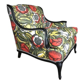 Multicolor Botanical Bergere Chair