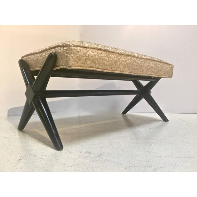 T H Robsjohn Gibbings X Base Trestle Bench Chairish