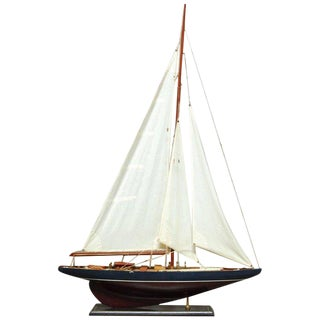 Marconi Rigged Cutter Model Ship on Stand