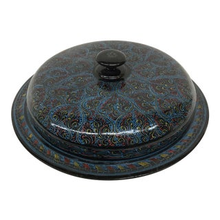 Vintage Kashmir Lacquer Divided Candy Dish