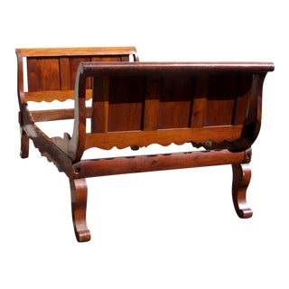 Rare Labeled Early 19th C Haitian French Colonial Day Bed from the West Indies
