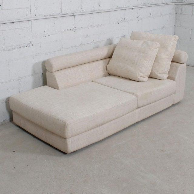 Roche Bobois Raw Silk Upholstered Chaise Lounge | Chairish
