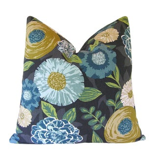 Robert Allen Fabric Luna Flora Custom Pillow Cover