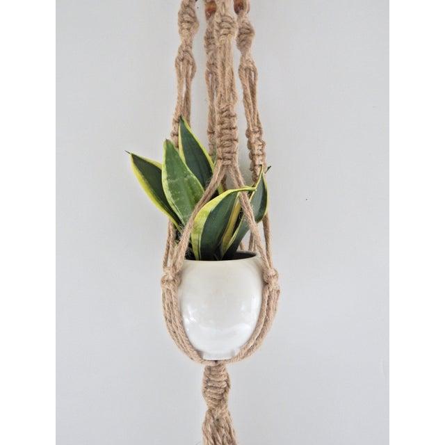 Image of Boho-Chic Jute Macrame Plant Hanger