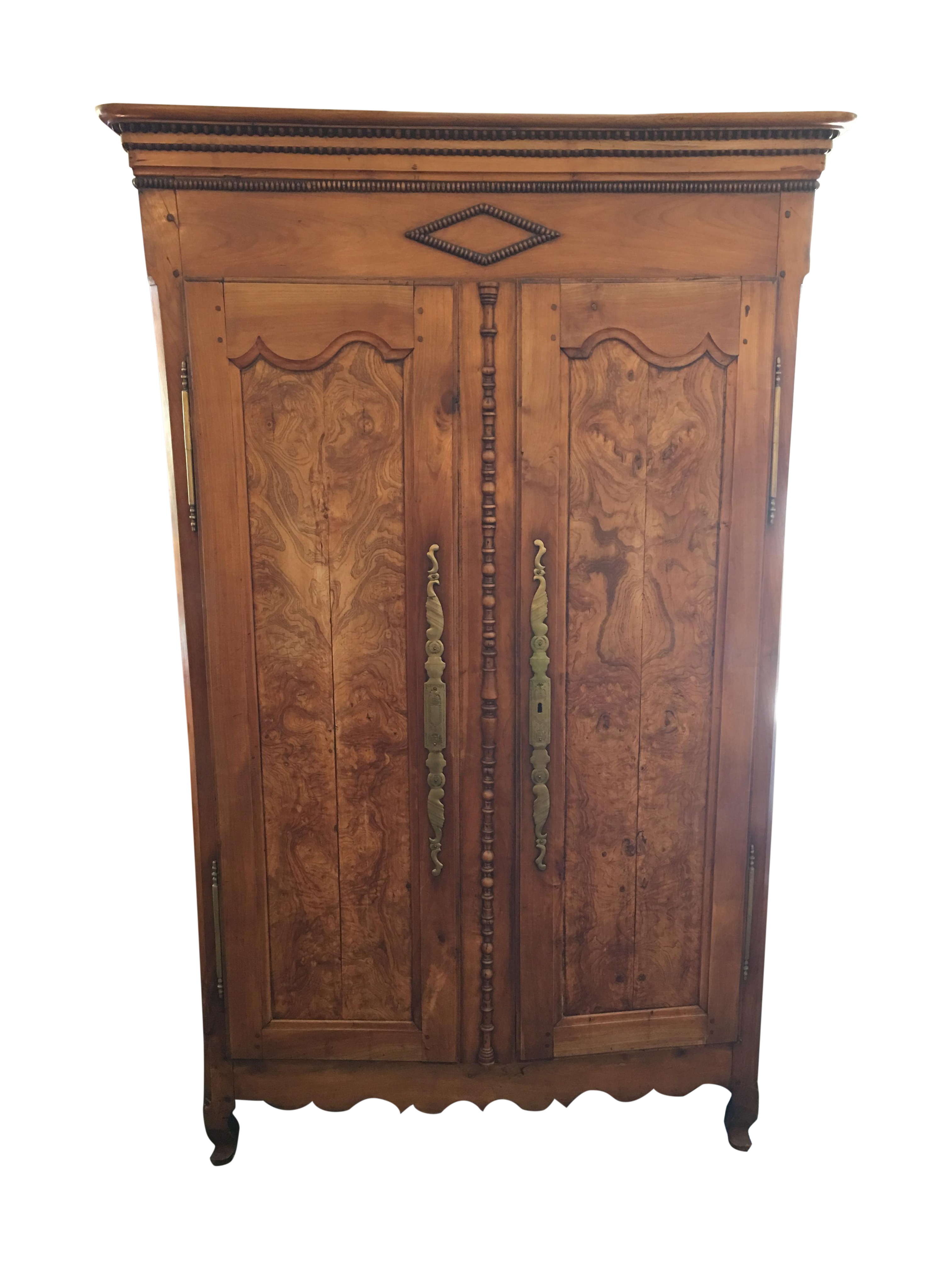 antique walnut armoire with television mount chairish