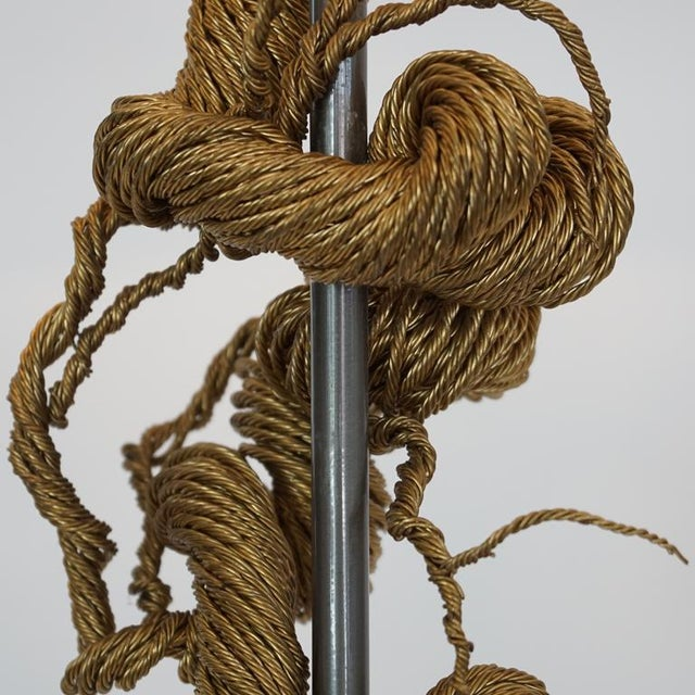 Twisted Brass Wire / Tripod Floor Lamp - Image 3 of 6