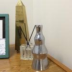 Image of Silver Geometric Decorative Vase