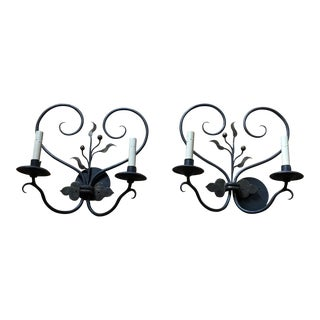 Ironware Double Sconces - A Pair