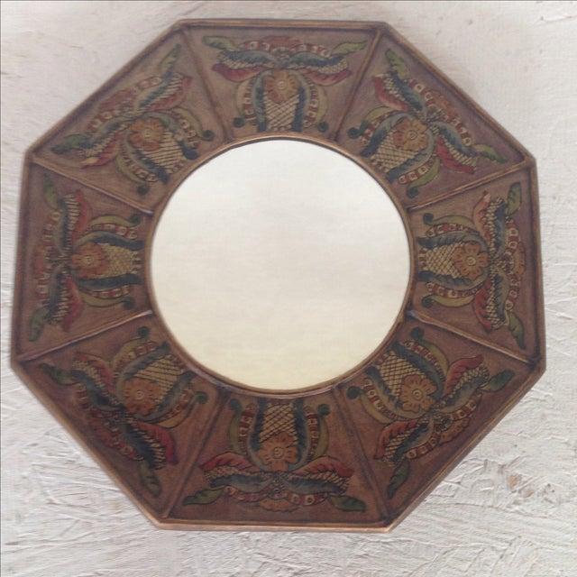 Ocatgonal Peruvian Mirror - Image 2 of 4