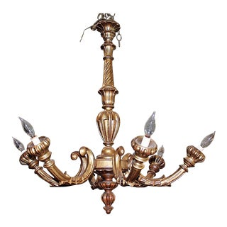 French Carved Gilt Wood Chandelier