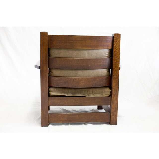 Stickley Co. Eastwood Chair And Ottoman - Image 4 of 10