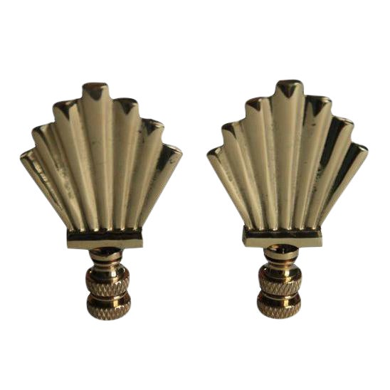 Brass Art Deco Style Finials - A Pair - Image 1 of 2