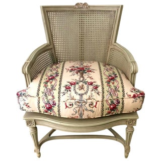 Louis XVI Caned & Painted Bergere Chair