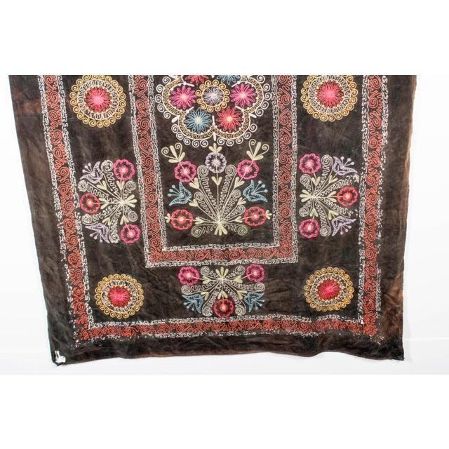 Embroidered Vintage Velvet Suzani - Image 6 of 7