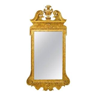 George II Gilt Gesso Mirror