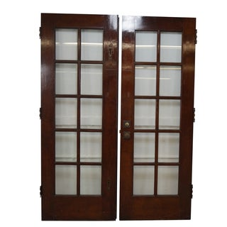 Vintage Mahogany Double French Doors - Pair