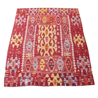 Gene Turkish Kilim Rug - 3′ × 4′