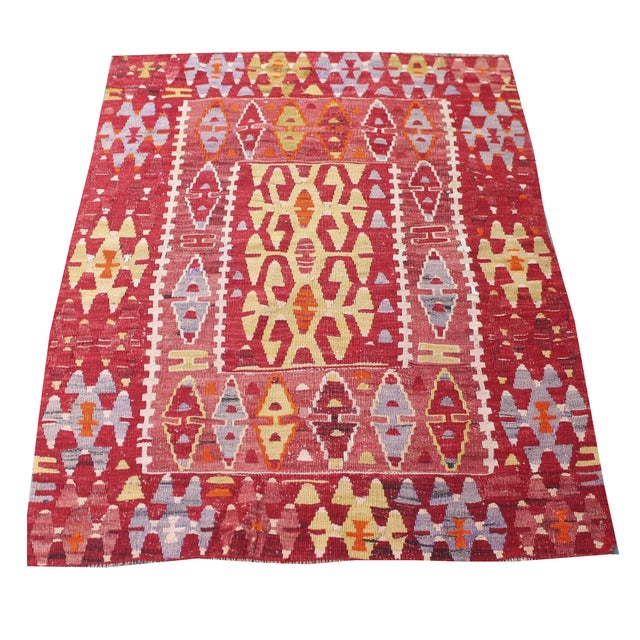 Image of Gene Turkish Kilim Rug - 3′ × 4′