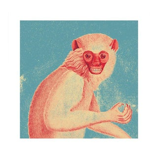 Antique 'Red Monkey' Archival Print