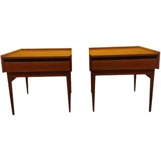 Dillingham Espririt Walnut Side Tables - A Pair
