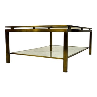Maison Jansen Brass Two-Tier Coffee Table