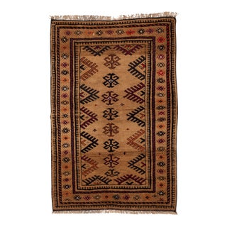"1950s Turkish Wool & Camel Hair Area Rug - 40"" x 62"""
