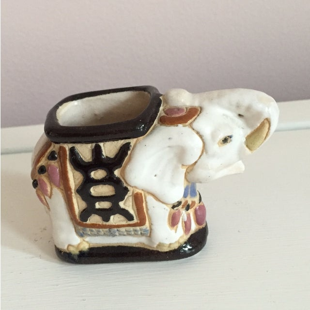 Mini Elephant Ceramic Containers - a Pair - Image 5 of 9