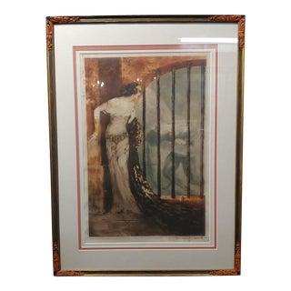 """Louis Icart """"Dalila & Samson"""" Original 1929 Etching"""