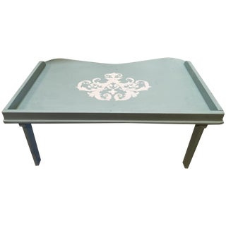 Vintage 1940s Blue Tray Table