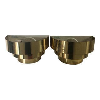 Tiered Brass Wall Sconces - Set of 2