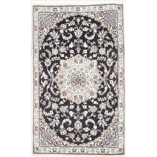 "Persian Nain Silk & Wool Rug - 2'11"" x 4'7"""