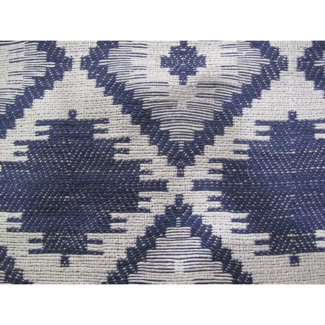 Blue/White Jacquard Indian Silk Rug - 5′1″ × 7′9″ - Image 4 of 5