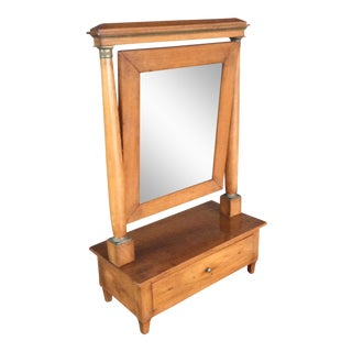 Biedermeier Dressing Table Mirror With Drawer