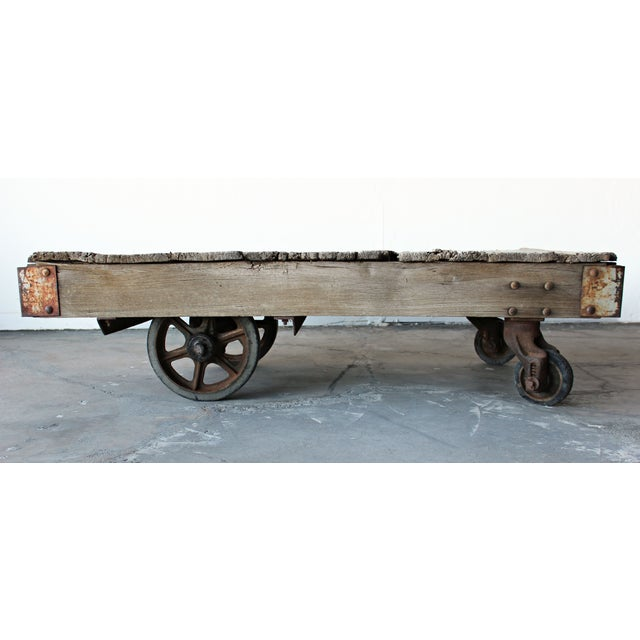 Antique Industrial Cart Coffee Table: Antique Industrial Railroad Cart Coffee Table