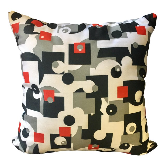 Mid-Century Style Throw Pillow - Image 1 of 4