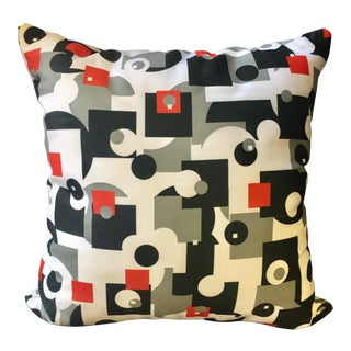 Mid-Century Style Throw Pillow