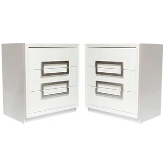 Pair of Lacquered Vintage Kittinger Cabinets