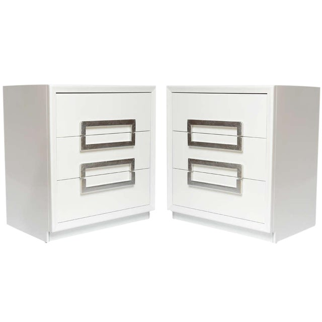 Image of Pair of Lacquered Vintage Kittinger Cabinets