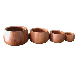 Vintage Jens Quistgaard for Dansk Teak Salad Bowls - Set of 4