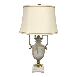 New Maitland-Smith Marble & Brass Urn Form Table Lamp