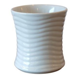 Wavy Texture Ceramic Vessel