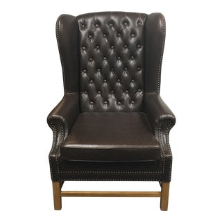 New Pacific Direct Chocolate Leatherette Wingback Chair