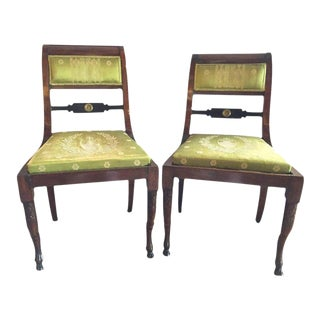 19th Century Antique Regency Period Chairs - A Pair