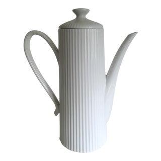 Vintage Mid-Century Modern Monumental Xtra Lrg Porcelain Coffee Tea Serving Pot