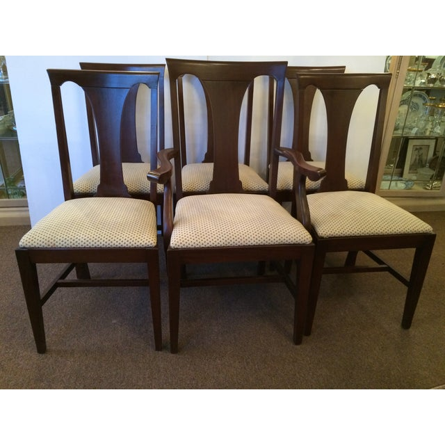 Mahogany Dining Chairs with Slip Seats - Set of 6 - Image 2 of 7