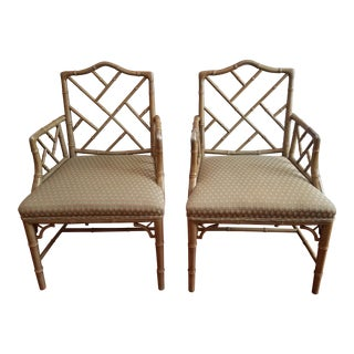 Chinese Chippendale Side Chairs - A Pair